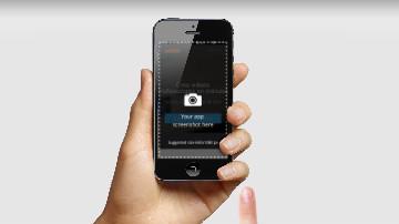 Short Mobile App Presentation Template Iphone
